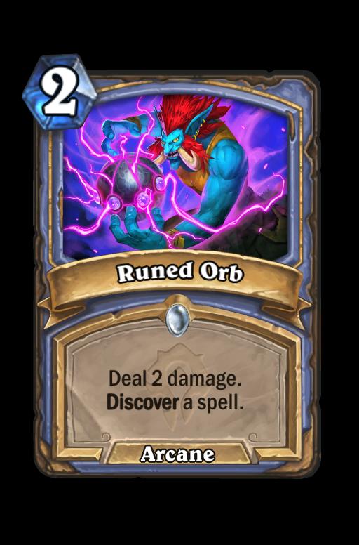 Runed Orb Hearthstone kártya
