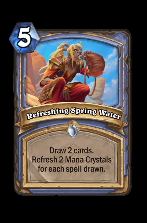 Refreshing Spring Water Hearthstone kártya