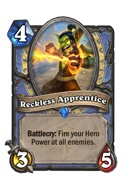 Reckless Apprentice Hearthstone kártya