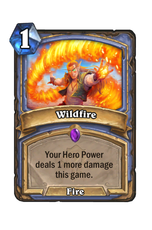 Wildfire Hearthstone kártya