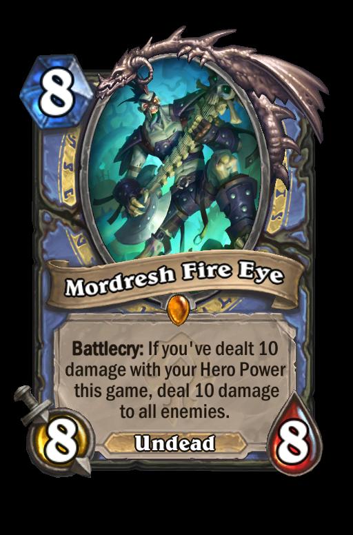 Mordresh Fire Eye Hearthstone kártya