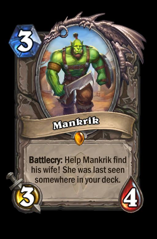 Mankrik Hearthstone kártya