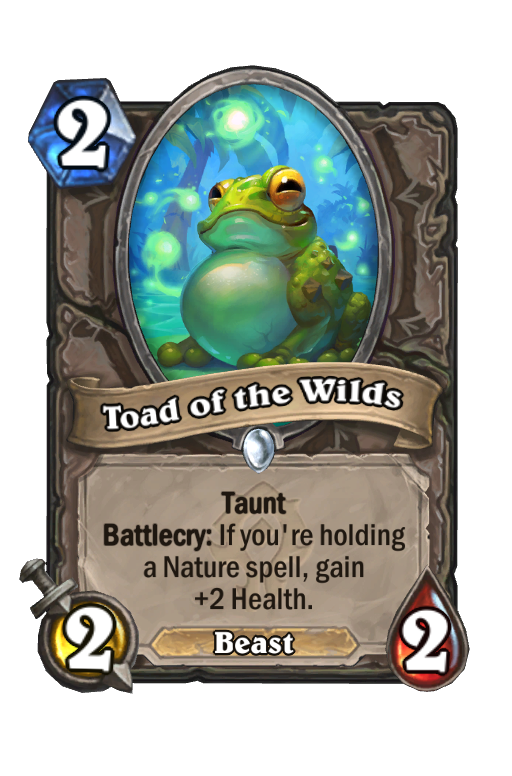 Toad of the Wilds Hearthstone kártya
