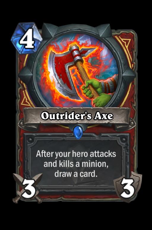 Outrider's Axe Hearthstone kártya
