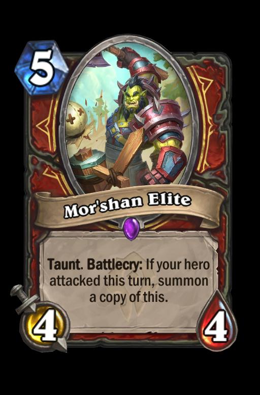 Mor'shan Elite Hearthstone kártya