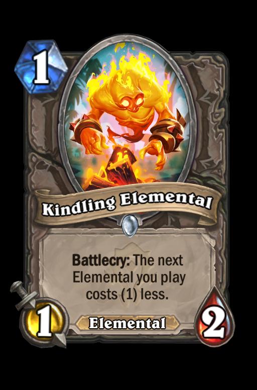 Kindling Elemental Hearthstone kártya