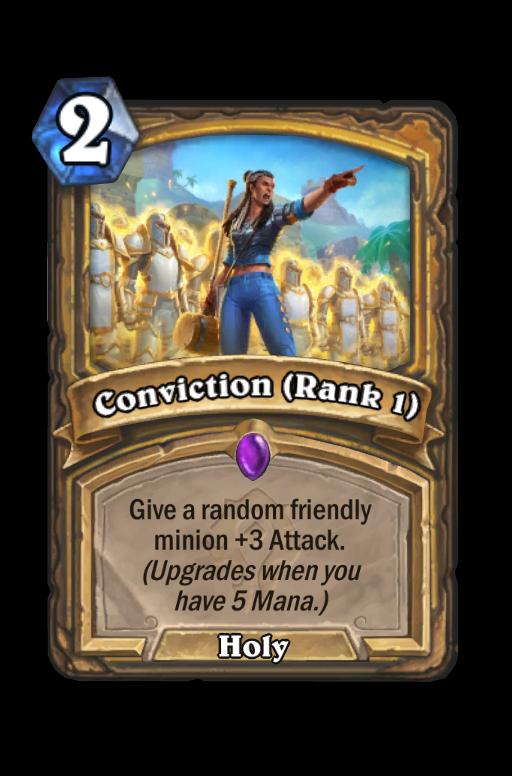 Conviction (Rank 1) Hearthstone kártya