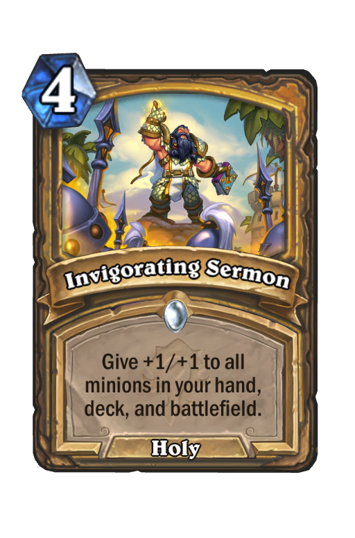 Invigorating Sermon Hearthstone kártya