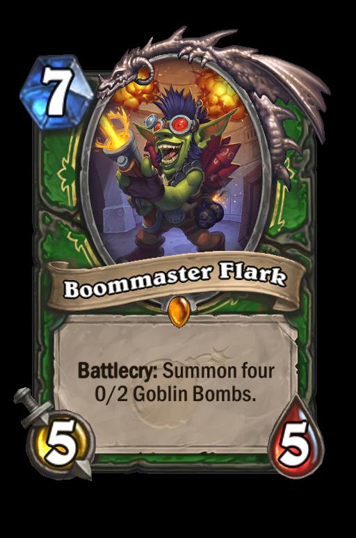 Boommaster Flark Hearthstone kártya