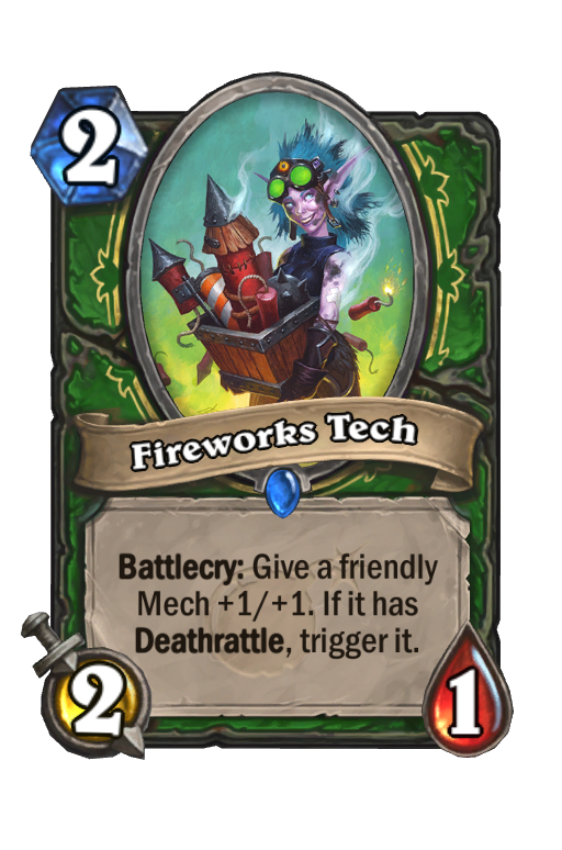 Fireworks Tech Hearthstone kártya