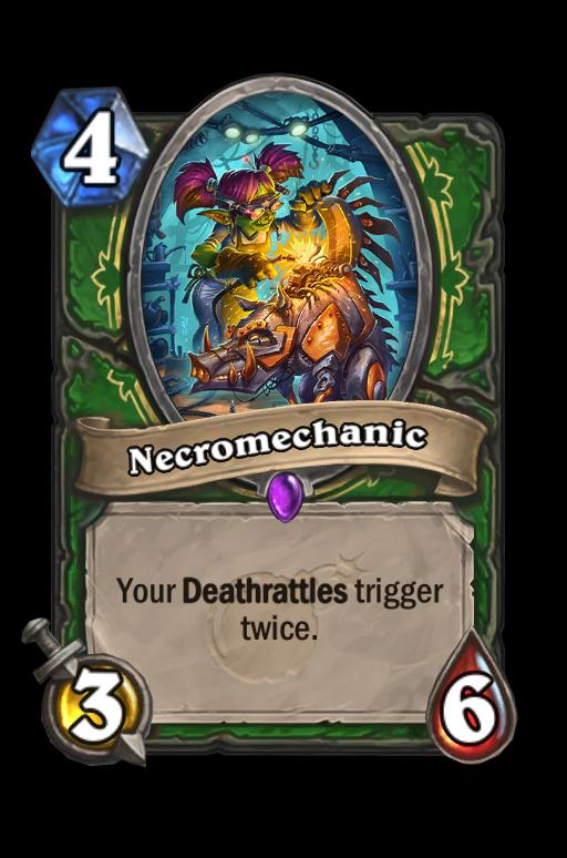 Necromechanic Hearthstone kártya