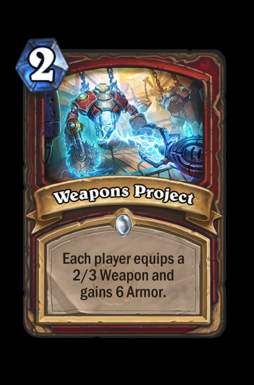 Weapons Project Hearthstone kártya
