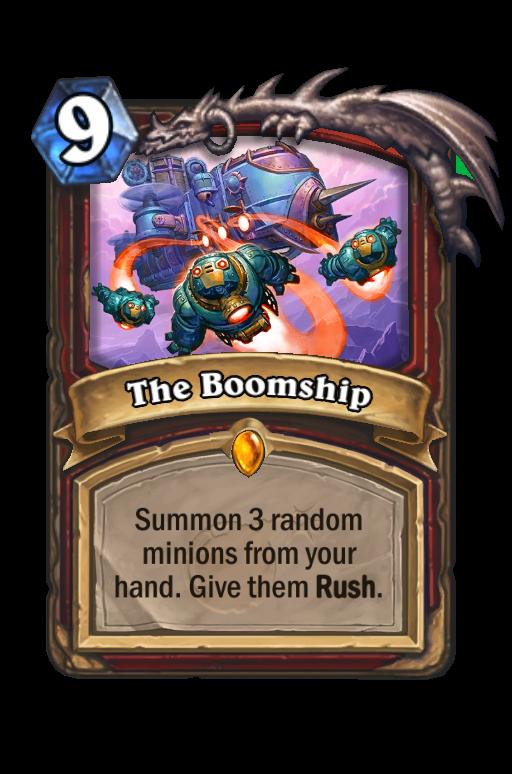 The Boomship Hearthstone kártya