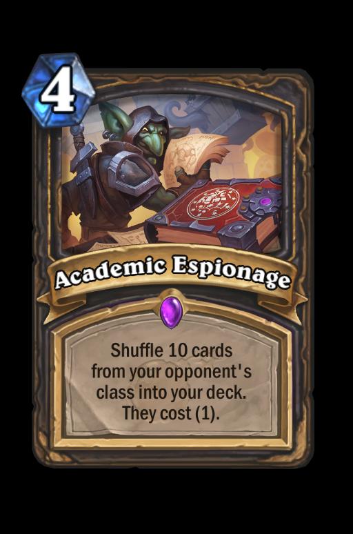 Academic Espionage Hearthstone kártya