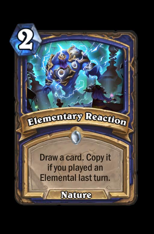 Elementary Reaction Hearthstone kártya