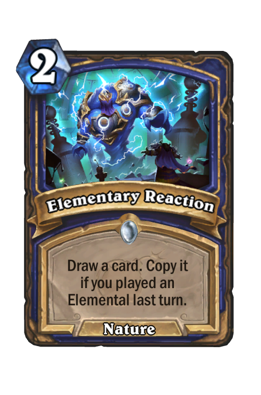 Elementary Reaction Hearthstone kártya