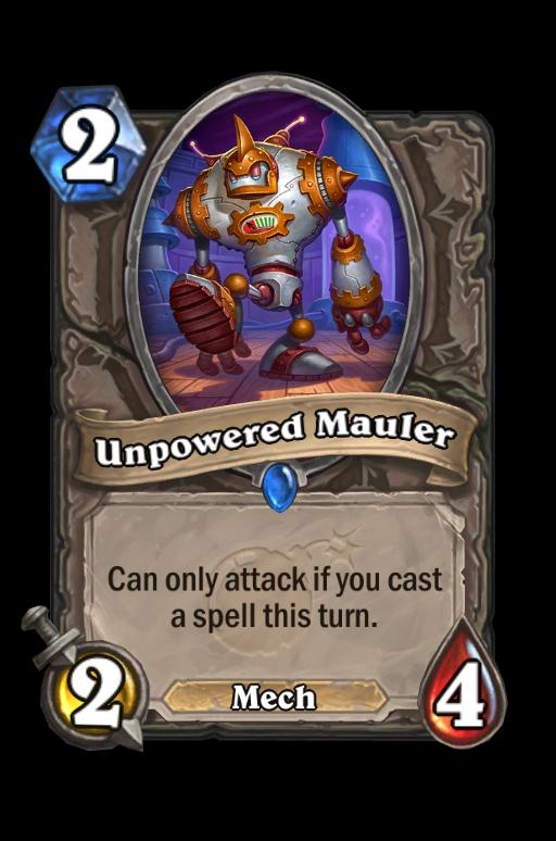 Unpowered Mauler Hearthstone kártya