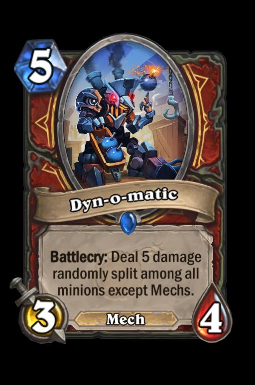 Dyn-o-matic Hearthstone kártya