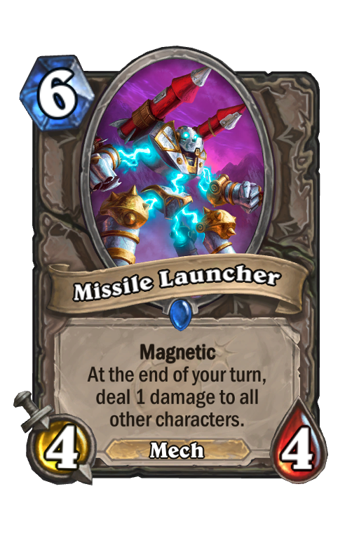 Missile Launcher Hearthstone kártya