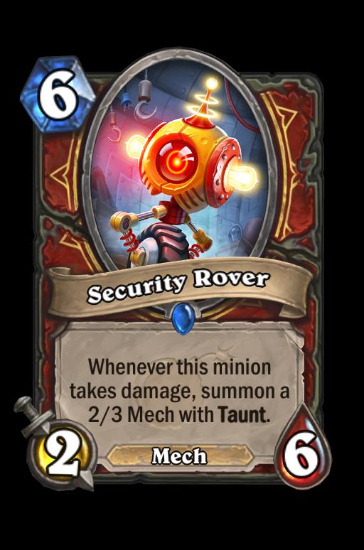 Security Rover Hearthstone kártya