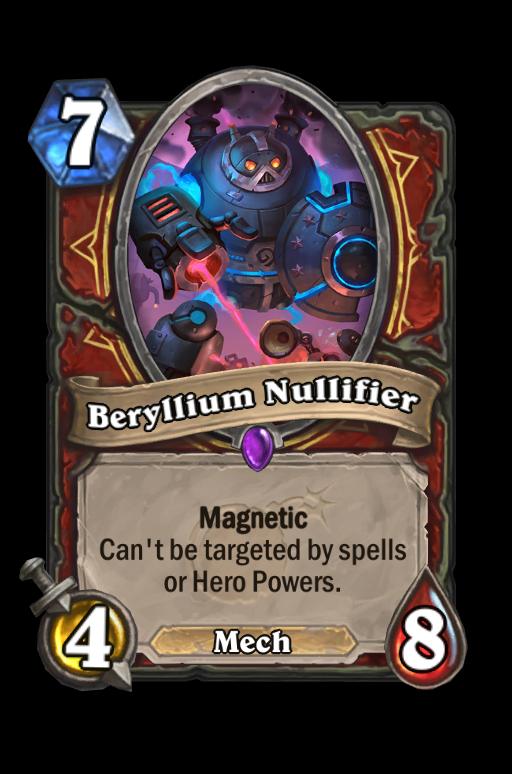 Beryllium Nullifier Hearthstone kártya