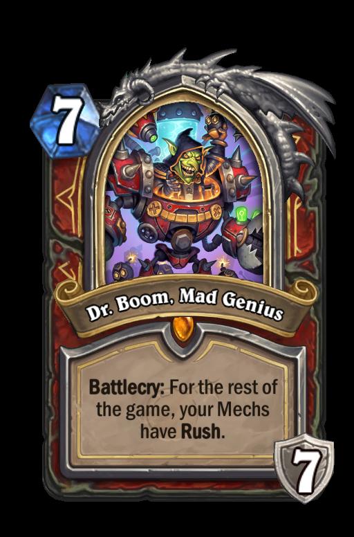 Dr. Boom, Mad Genius Hearthstone kártya