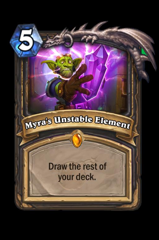 Myra's Unstable Element Hearthstone kártya