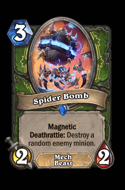 Spider Bomb Hearthstone kártya
