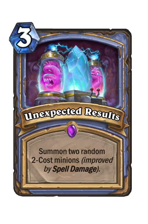 Unexpected Results Hearthstone kártya