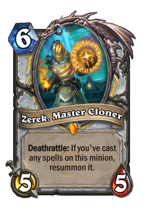 Zerek, Master Cloner Hearthstone kártya