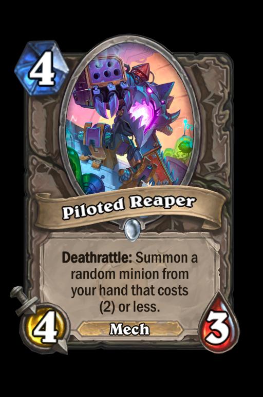 Piloted Reaper Hearthstone kártya