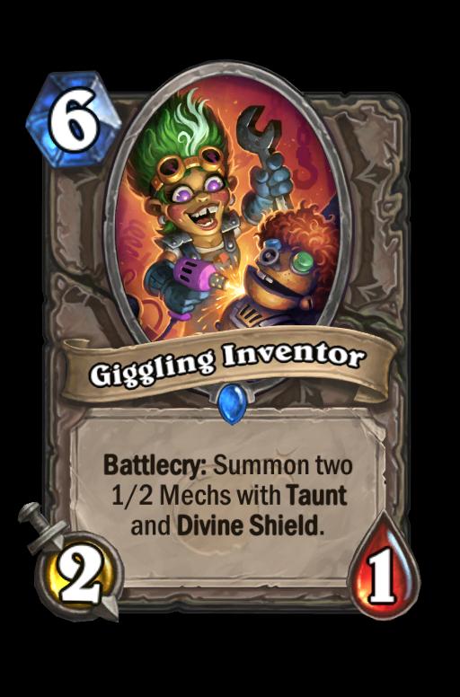 Giggling Inventor Hearthstone kártya