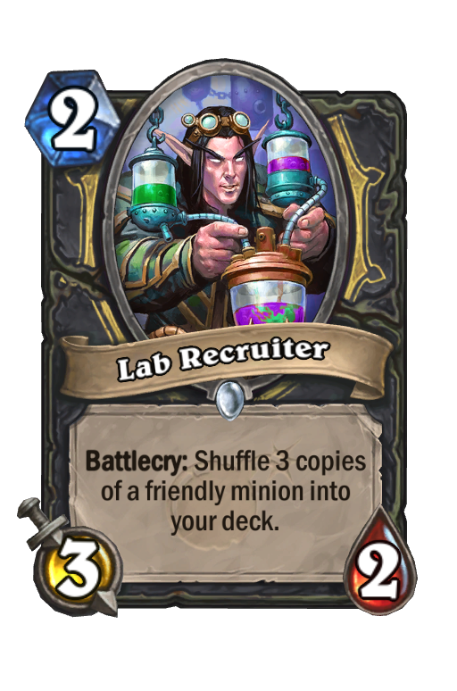 Lab Recruiter Hearthstone kártya