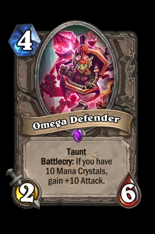 Omega Defender Hearthstone kártya