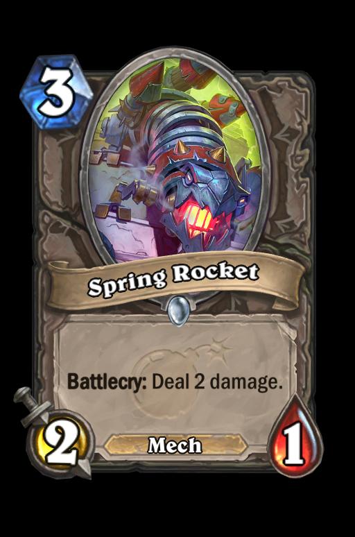 Spring Rocket Hearthstone kártya