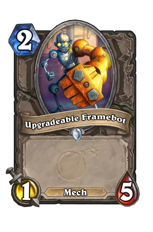Upgradeable Framebot Hearthstone kártya