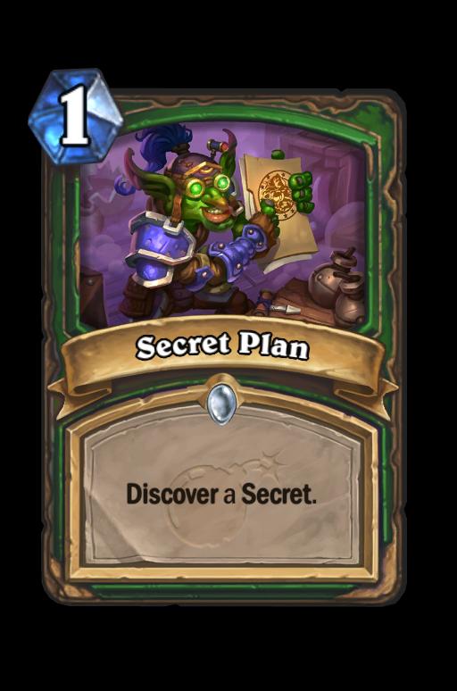 Secret Plan Hearthstone kártya