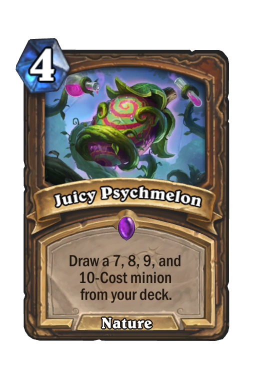 Juicy Psychmelon Hearthstone kártya