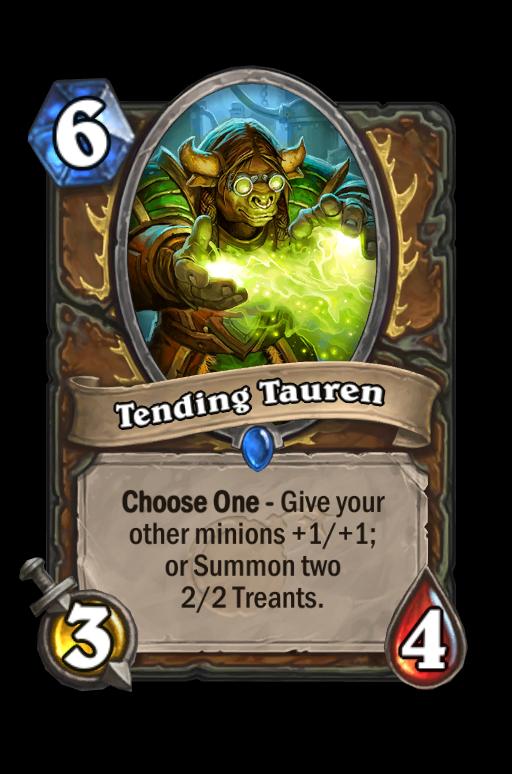 Tending Tauren Hearthstone kártya