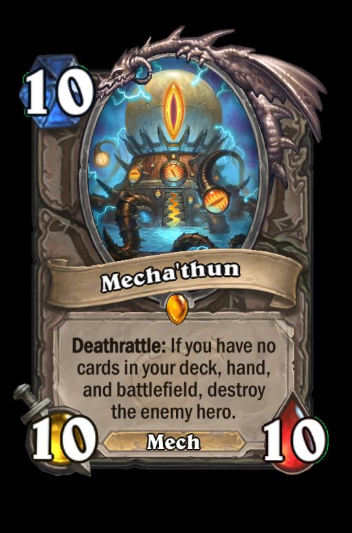 Mecha'thun Hearthstone kártya