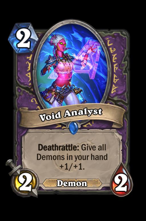 Void Analyst Hearthstone kártya