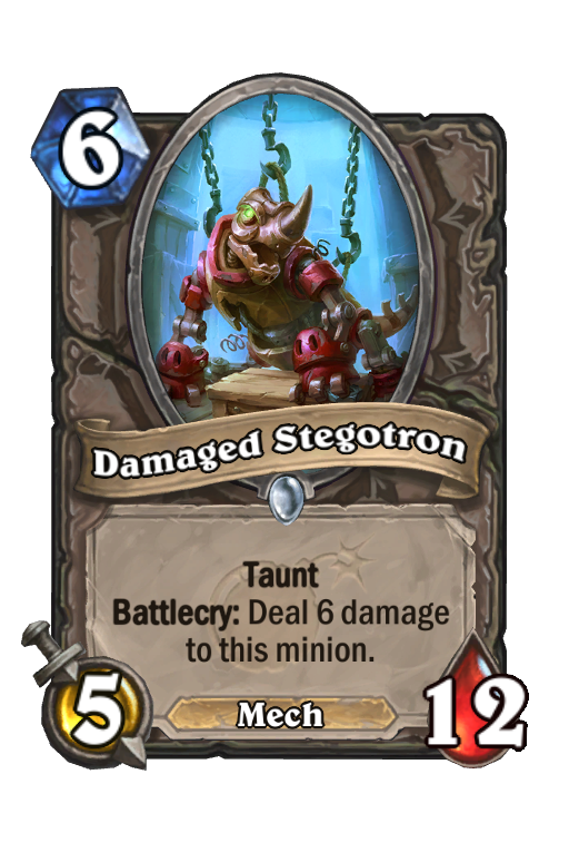 Damaged Stegotron Hearthstone kártya