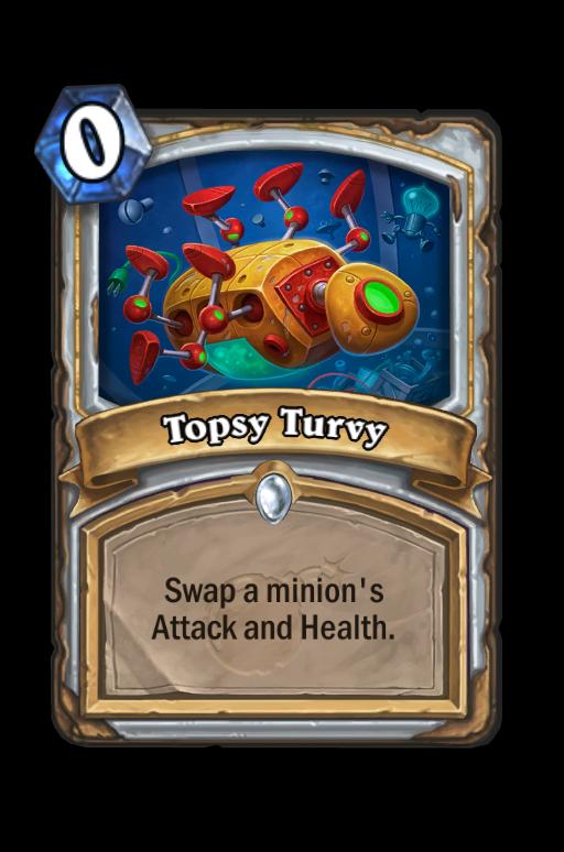Topsy Turvy Hearthstone kártya