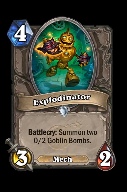 Explodinator Hearthstone kártya