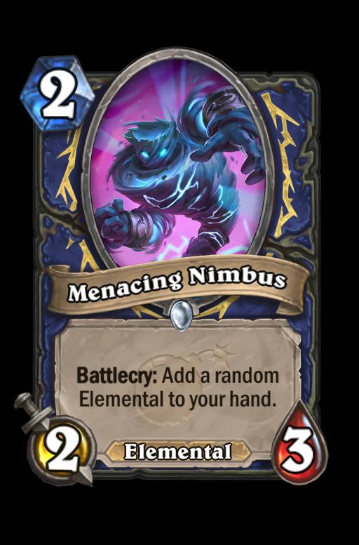 Menacing Nimbus Hearthstone kártya