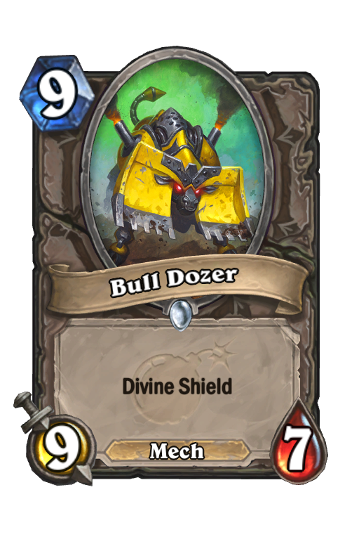 Bull Dozer Hearthstone kártya