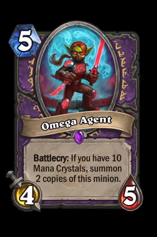 Omega Agent Hearthstone kártya