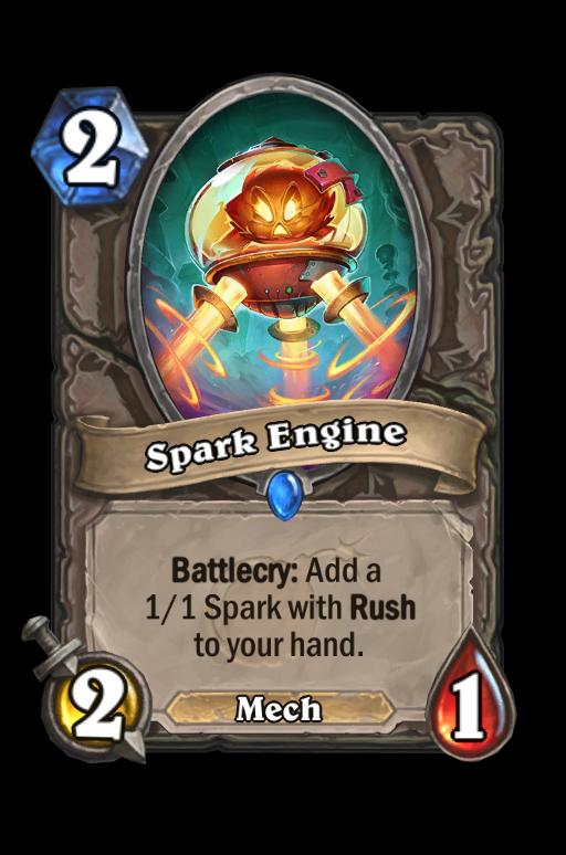 Spark Engine Hearthstone kártya