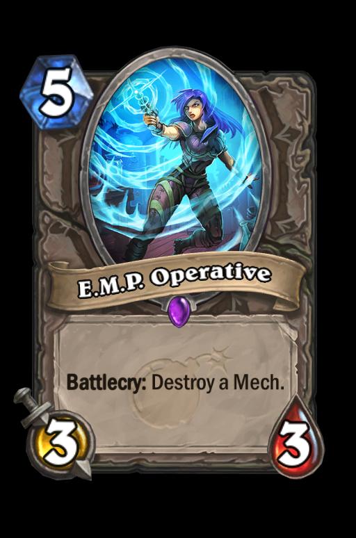 E.M.P. Operative Hearthstone kártya