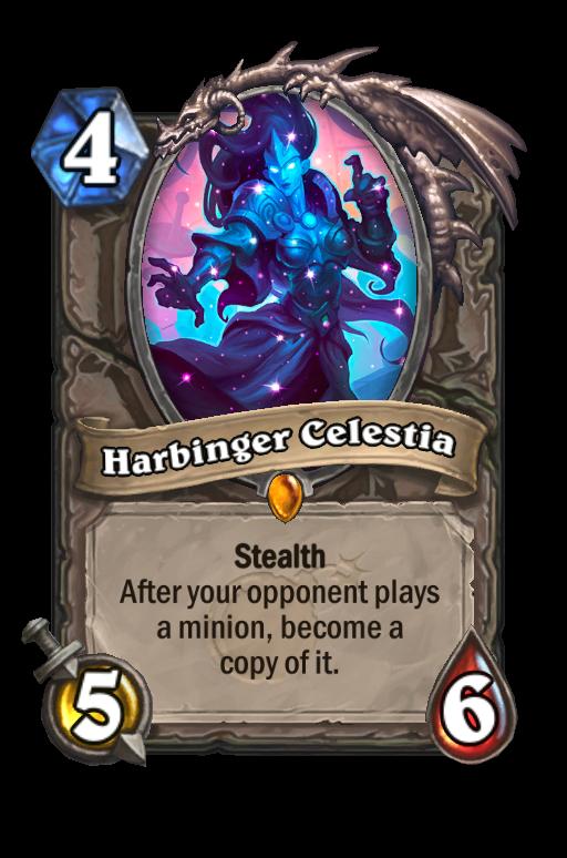 Harbinger Celestia Hearthstone kártya